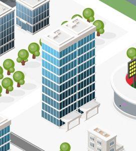 イメージ:マンション・ビルへのショットブラスト活用